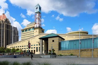 The Mississauga Civic Center in Mississauga, Canada